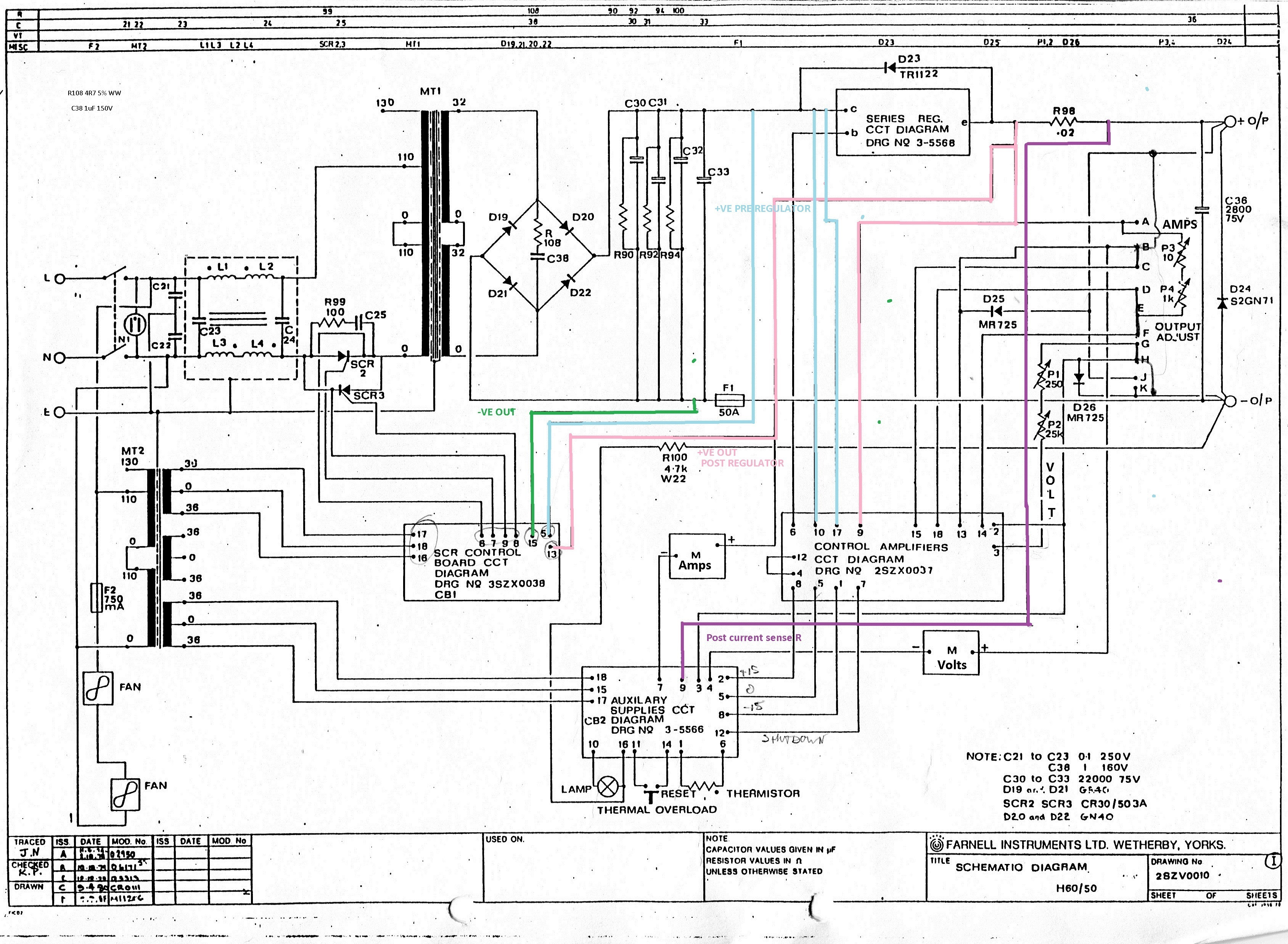 Large Farnell Psu Trouble Shooting Question Page 1 Schematic Block Diagram Http Gatesgarthcom H60001