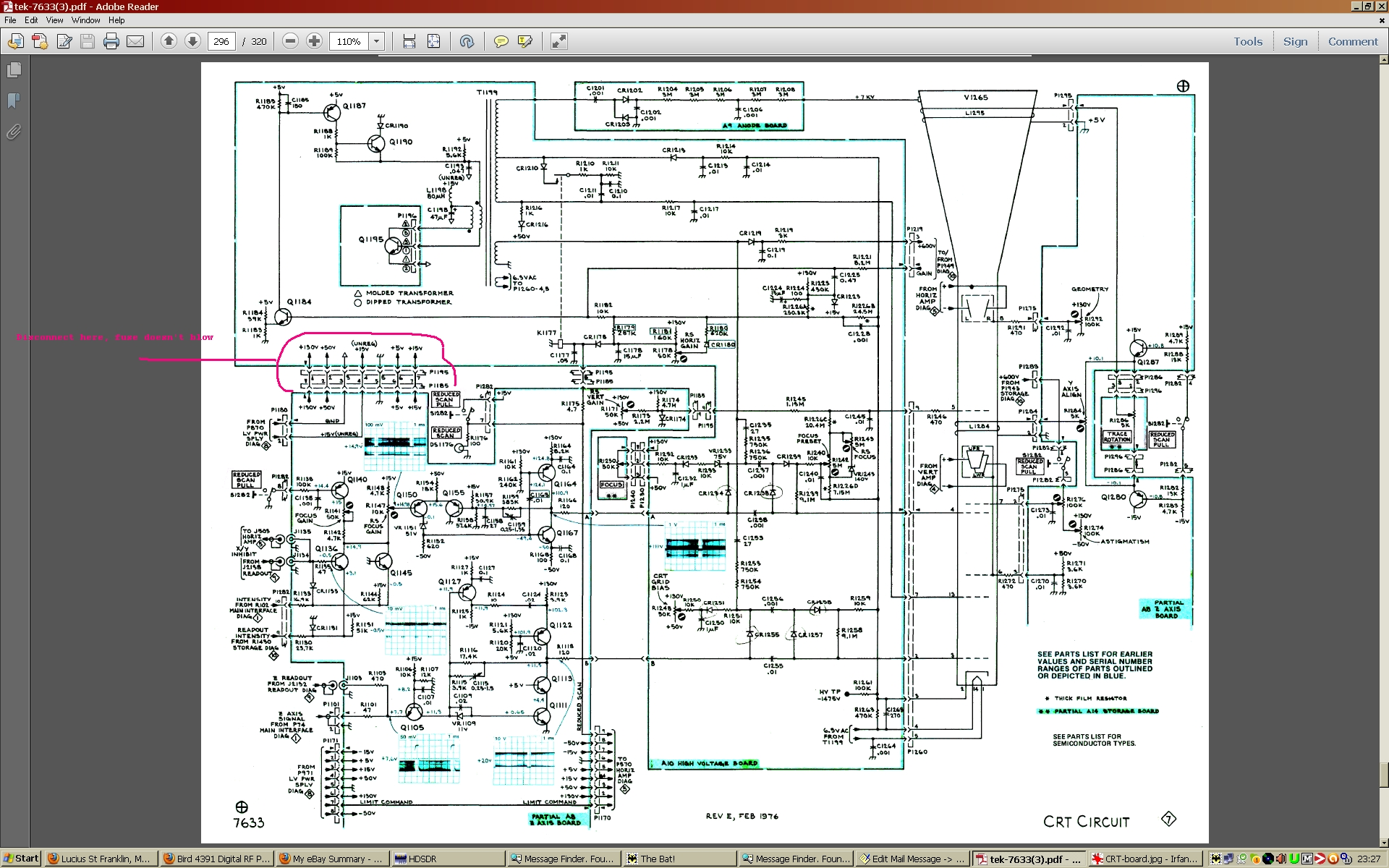 7633 crt hv circuit issues rh groups io